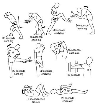 Six Minute 15 second Rowing stretching routine