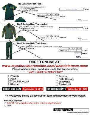 Westdale TEAMS & CLUBS Apparel Order Form_Page_2